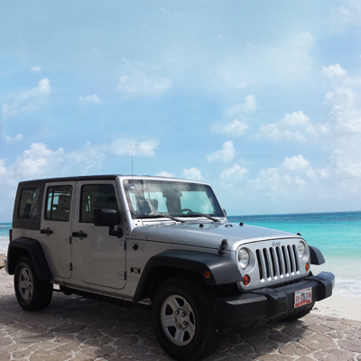 Jeep , UNLIMITED for rent in Cancun, Playa del Carmen, or Mayan Riviera